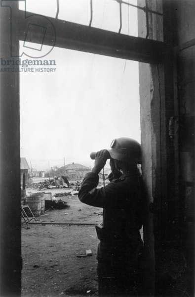 Battle of Stalingrad, 1942 (b/w photo)