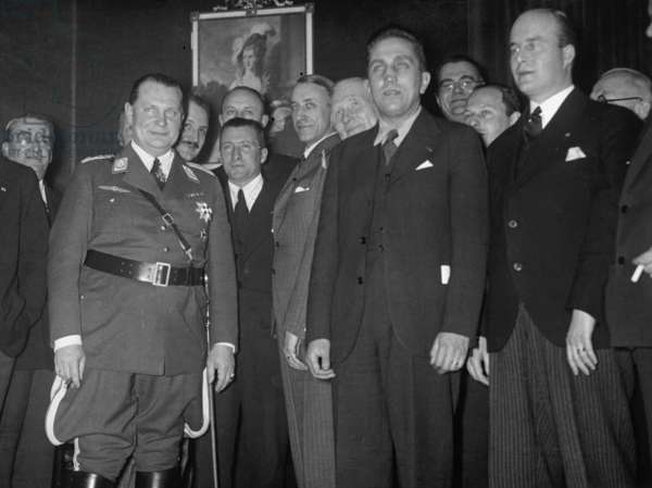 Hermann Goering with representatives of the European airlines, 1934 (b/w photo)