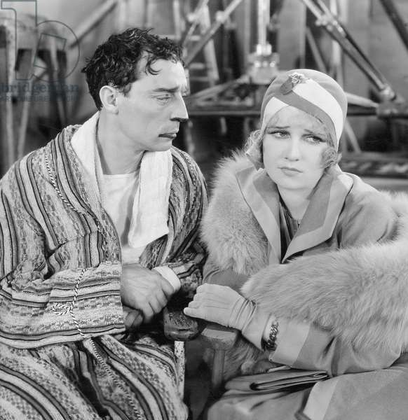 Buster Keaton (left) and Anita Page in 'Free and Easy', 1930 (b/w photo)