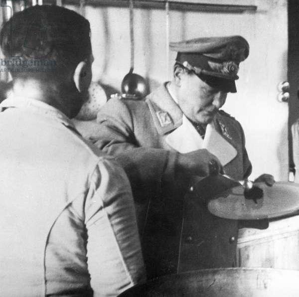 Hermann Göring in a frontal visit, 1941 (b/w photo)