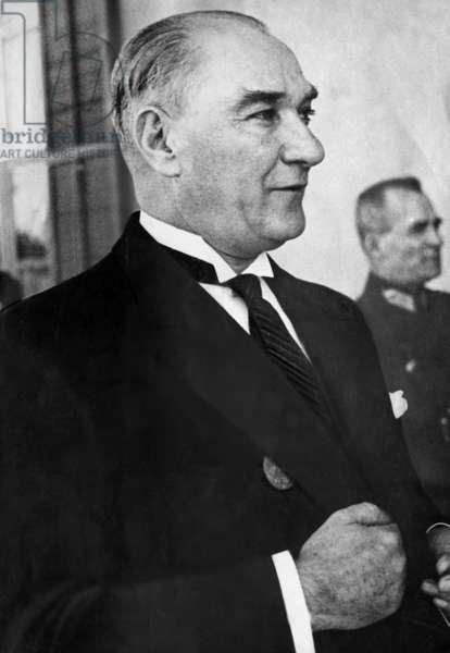 Mustafa Kemal Ataturk  (b/w photo)