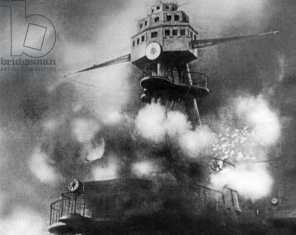 USS Arizona, 1941 (b/w photo)