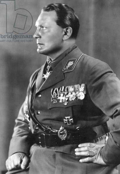 Profile portrait of Hermann Göring, 1933 (b/w photo)