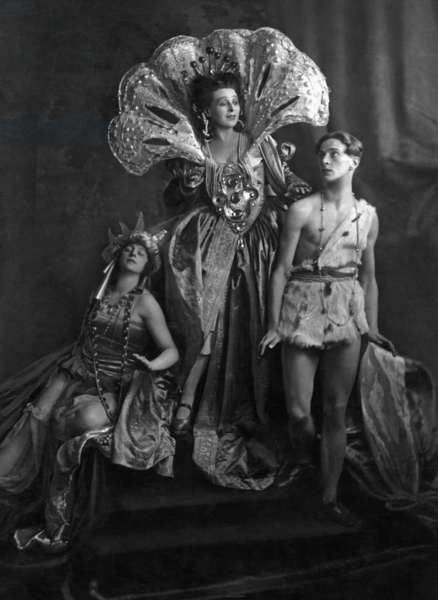 Performance of an opera by Richard Strauss (b/w photo)