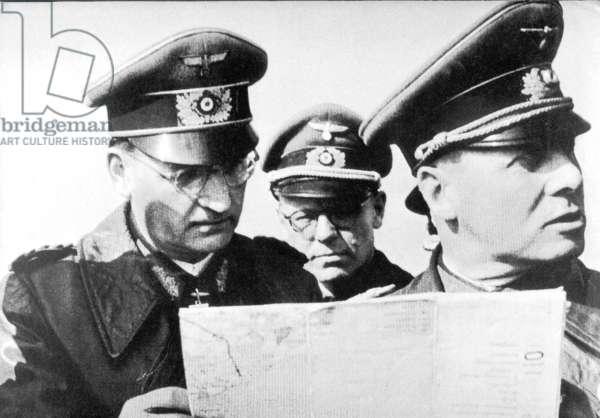 Hans Speidel with Erwin Rommel in France, 1944