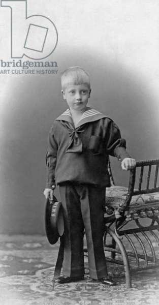 Prince Ernst Heinrich of Saxony, 1903 (b/w photo)
