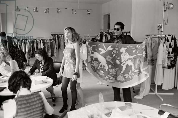 Karl Lagerfeld while working for Maison Chloe, 1972