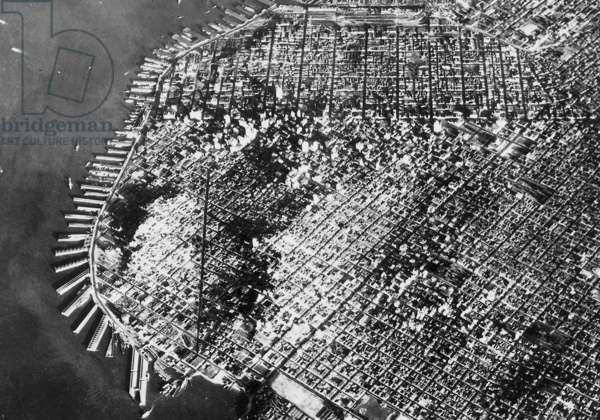 Aerial photo of San Francisco, 1934 (b/w photo)