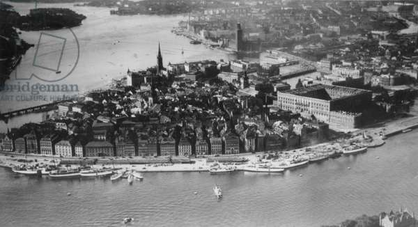 Aerial photo of Stockholm, 1937 (b/w photo)