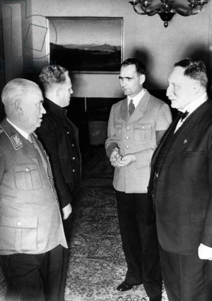 Karl Haushofer with Rudolf Hess (b/w photo)