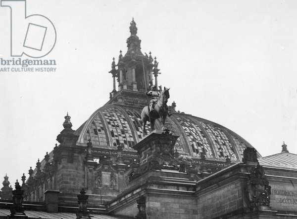 Dome of the Reichstag in Berlin after the fire, 1933 (b/w photo)