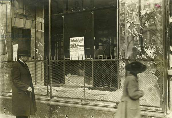 Plundered shop after the March Fights, 1919