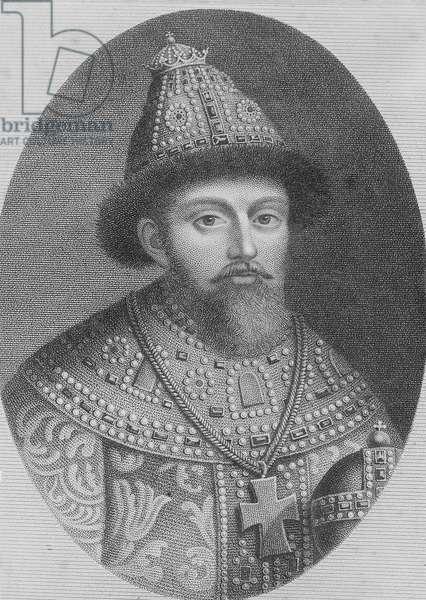 Tsar Michael Romanov, 1613-1645 (b/w photo)