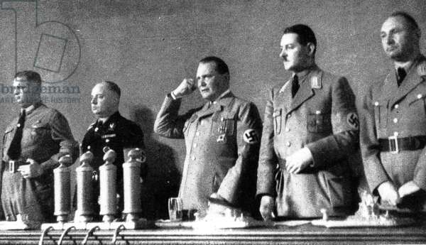 Hermann Goering announces the Nuremberg Laws