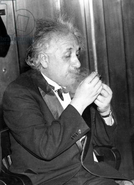 Albert Einstein, 1936 (b/w photo)