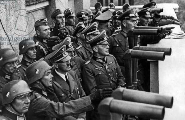 Adolf Hitler in Poland, 1939 (b/w photo)