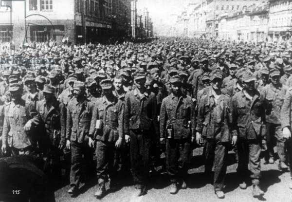 German war prisoners in Moscow, 1944