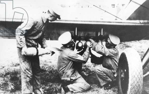 Chinese soldiers during the Sino-Japanese War, 1937 (b/w photo)