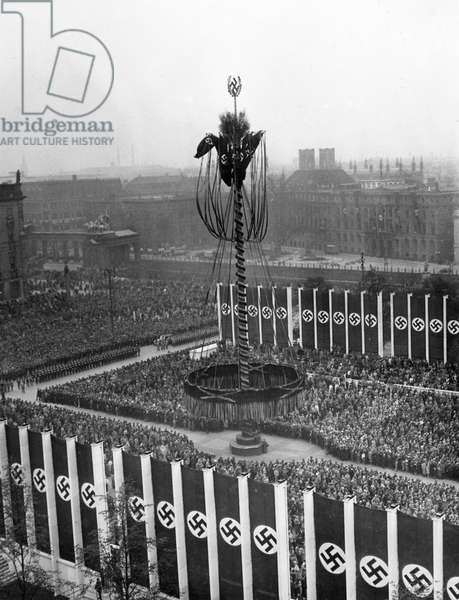 Event on May Day in Berlin, 1939 (b/w photo)