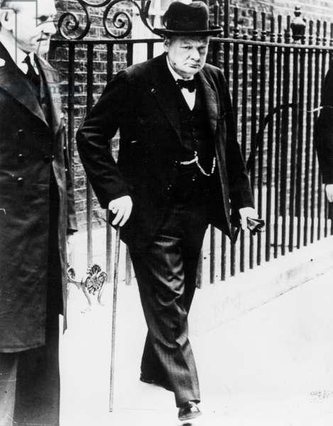 Winston Churchill, 1939 (b/w photo)