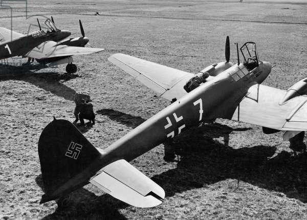 Focke Wulf Fw 187 'Falke', 1940 (b/w photo)