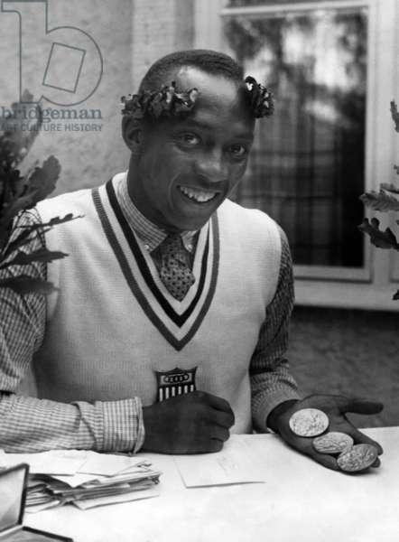 Jesse Owens as an Olympic champion, 1936