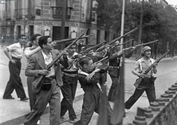 Fighters of the People's Front in the Spanish Civil War, 1936
