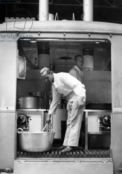 Cooks of the Hilfszug Bayern in Paris, 1940 (b/w photo)