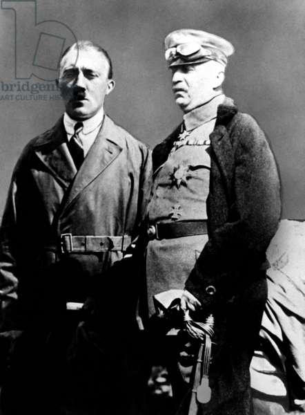 Adolf Hitler with Erich Ludendorff, 1924 (b/w photo)