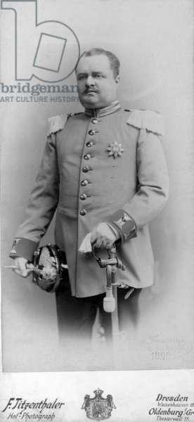 Duke George of Oldenburg, January 1911 (b/w photo)