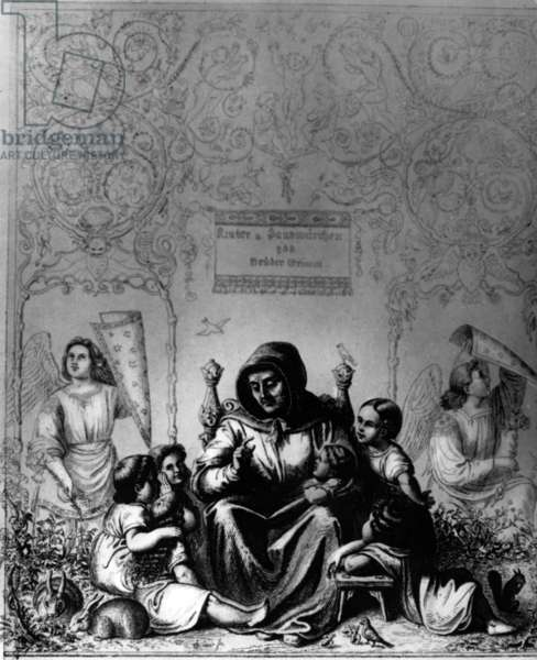 Frontispiece of the 'Children's and Household Tales' by the brothers Jacob and Wilhelm Grimm