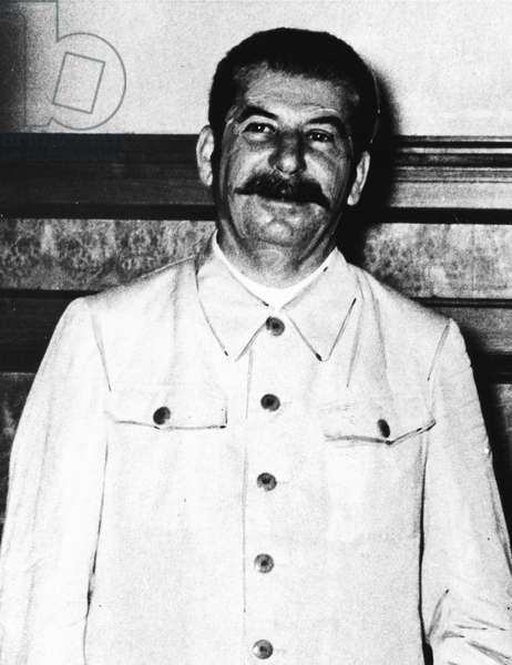 Portrait of Joseph Stalin on August 23. 1939 (b/w photo)