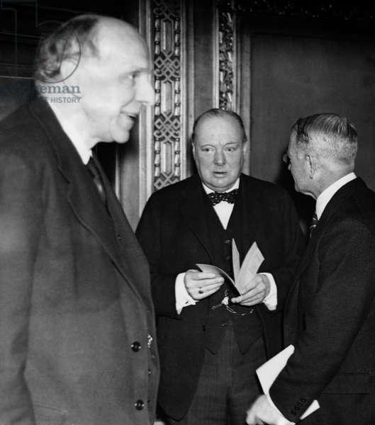 Winston Churchill, 1936 (b/w photo)