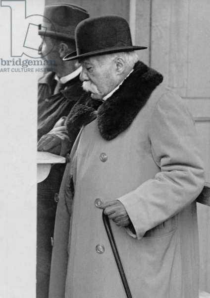 Georges Clemenceau, 1927 (b/w photo)