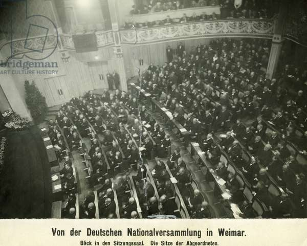 Session of the National Assembly in Weimar, 1919