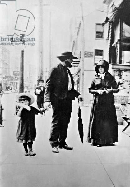 German immigrant family in Pennsylvania, 1930 (b/w photo)