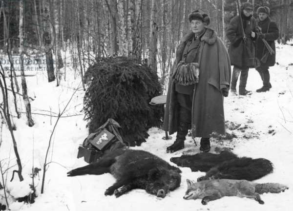 Hermann Göring on the hunt in Poland, 1938 (b/w photo)