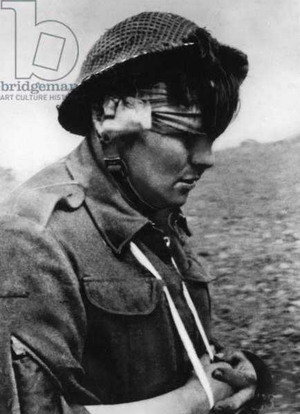 A captured British soldier on the Invasion Front, 1944 (b/w photo)