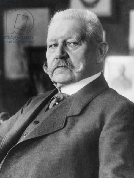 Paul von Hindenburg, 1928 (b/w photo)