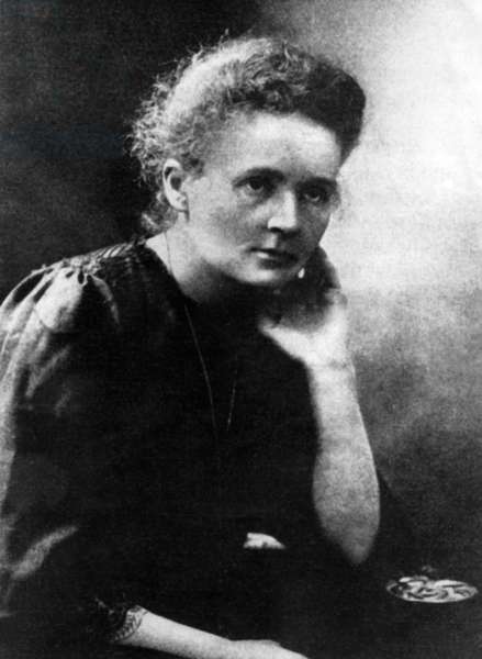 Portrait of Marie Curie, 1911 (b/w photo)