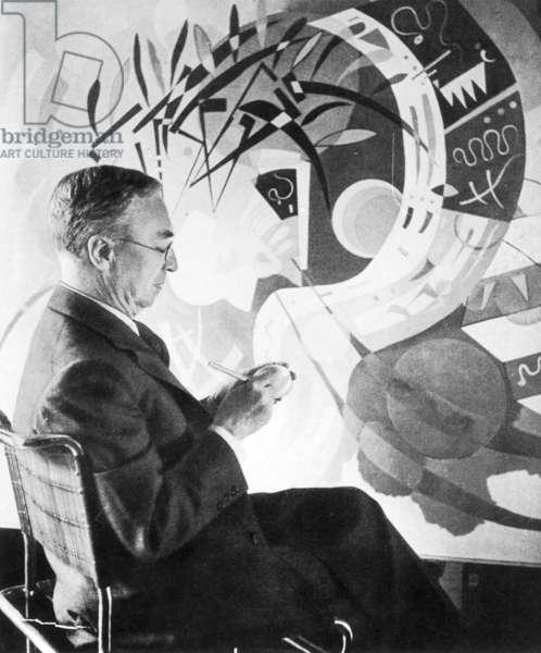 Wassily Kandinsky, 1936 (b/w photo)