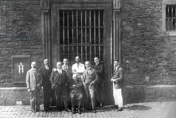 Group photo of arrested state officials in the occupied Ruhr area, 1920s
