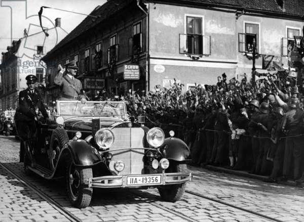 Adolf Hitler in Graz, 1938 (b/w photo)