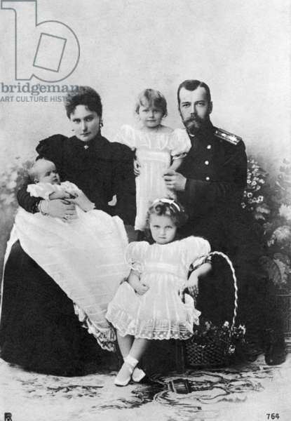 Family photo of the Romanovs, 1899