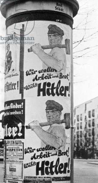 Election poster of the NSDAP for the Reichstag election, 1932