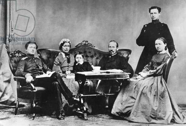 Paul von Hindenburg, 1866 (b/w photo)