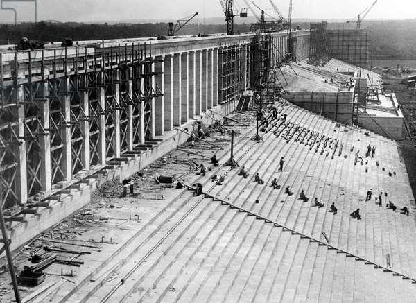 Architecture of the Third Reich: Nuremberg, Nazi Party Rally Ground under construction, 1933-1938