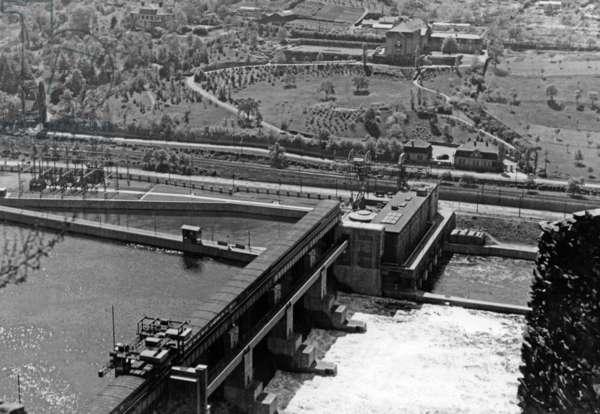 Barrage in Aussig, 1938