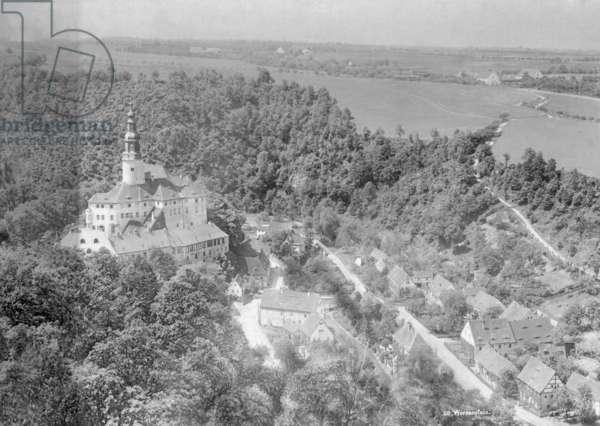 The Weesenstein Castle (b/w photo)