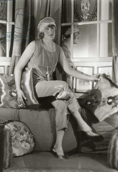 Woman in pajamas, 1927 (b/w photo)